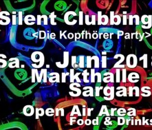 Erste Silent Party in Sargans, 9. Juni 2018